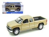 Chevrolet Silverado Extra Cab Truck Gold 1/27 Scale Diecast Model By Maisto 31941