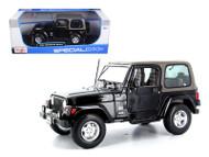 Jeep Wrangler Sahara Black 1/18 Scale Diecast Model By Maisto 31662