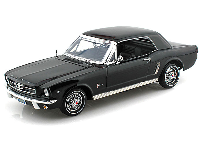 Motor Max 1 18 Scale 1964 1 2 Ford Mustang Black Diecast Car Model 73164