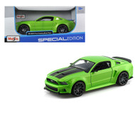 2014 Ford Mustang Street Racer Green 1/24 Scale Diecast Car Model By Maisto 31506