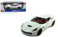 2014 Chevrolet Corvette Z51 Stingray C7 White 1/18 Scale Diecast Car Model By Maisto 31677