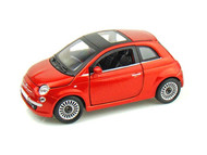 Fiat 500 Sunroof Orange 1/24 Scale Diecast Car Model By Bburago 21032