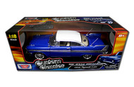 Motor Max 1/18 Scale 1958 Plymouth Fury Blue Custom Classics Diecast Car Model 79011