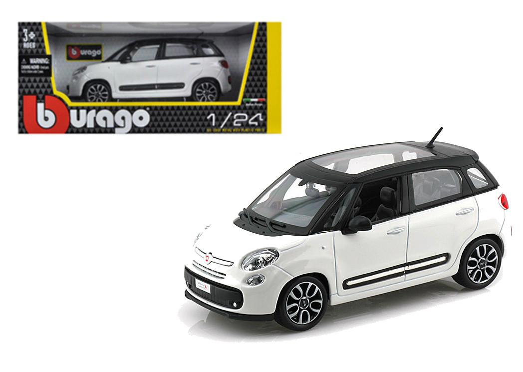 Fiat 500l White 500 L 1 24 Scale Diecast Car Model By Bburago 22126