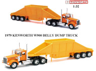 1979 Kenworth W900 Belly Dump Truck Semi Truck & Trailer 1/32 Scale By Newray 10513