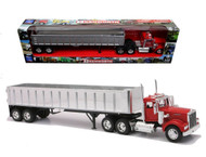 Kenworth W900 Frameless Dump Truck Semi Truck & Trailer 1/32 Scale By Newray 13773