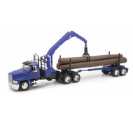 Mach Ch Log Trailer With Logs Semi Truck & Trailer 1/32 Scale By Newray 13133