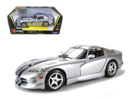 Dodge Viper GTS Coupe Silver 1/18 Scale Diecast Car Model By Bburago 12041