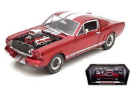 1965 Ford Shelby Mustang GT350R Red With Silver Stripes & Engine Blower 1/18 Scale Diecast Car Model By Shelby Collectibles SC 117