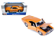 1969 Dodge Charger R/T Orange 1/25 Scale Diecast Car Model By Maisto 31256