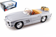 1957 MERCEDES BENZ 300 SL TOURING SILVER 1/18 SCALE DIECAST CAR MODEL BY BBURAGO 12049