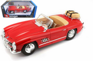 1957 MERCEDES BENZ 300 SL TOURING RED 1/18 SCALE DIECAST CAR MODEL BY BBURAGO 12049