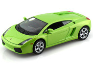Lamborghini Gallardo Green 1/24 Scale Diecast Car Model By Bburago 22051