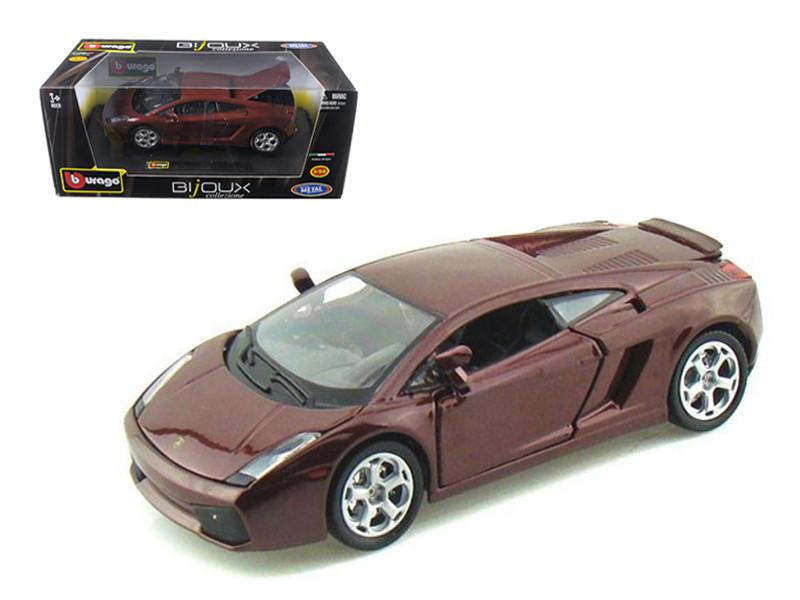 Lamborghini Gallardo Burgundy 1 24 Scale Diecast Car Model By