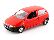 Fiat Punto Red 1/24 Scale Diecast Car Model By Bburago 22088