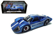1967 Ford GT MK IV Blue 1/18 Scale Diecast Car Model BY Shelby Collectibles SC 421