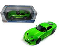 2013 Dodge Viper SRT GTS Green 1/18 Scale Diecast Car Model By Maisto 31128