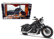 2014 Harley Davidson Sportster Iron 883 Black Motorcycle 1/12 Scale By Maisto 32326