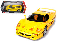 Ferrari F50 Yellow 1/18 Scale Diecast Car Model By Bburago 16004