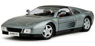 Ferrari 348 TS 348TS Grey 1/18 Scale Diecast Car Model By Bburago 16006