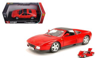 Ferrari 348 TS 348TS Red 1/18 Scale Diecast Car Model By Bburago 16006