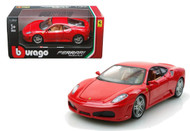 Ferrari F430 Red 1/24 Scale Diecast Car Model By Bburago 26008
