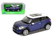 Mini Cooper S Paceman Blue 1/24 Scale Diecast Car Model By Welly 24050