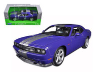 2013 Dodge Challenger SRT Purple 1/24 Scale Diecast Car Model By Welly 24049