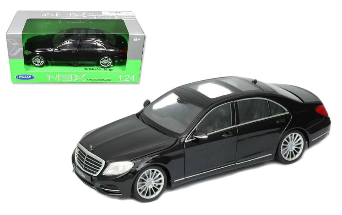 Mercedes Benz S Class Black 1 24 Scale Diecast Car Model By Welly 24051
