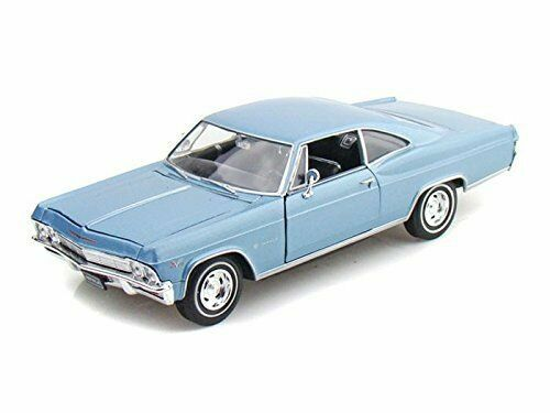 1965 Chevrolet Impala SS 396 Blue 1/24 Scale Diecast Car Model By Welly 22417