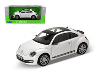 Volkswagen Beetle 2012 White 1/18 Scale Diecast Car Model By Welly 18042