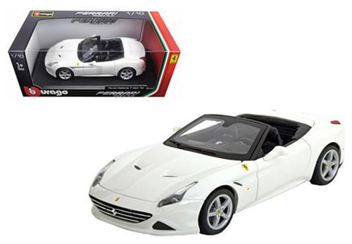 Ferrari California T Open Top White 1/18 Scale Diecast Car Model By Bburago 16007