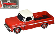 1966 Chevrolet C-10 Fleetside Pickup Truck Red 1/24 Scale Diecast Model By Motor Max 73355