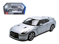 2009 Nissan GT-R R35 Silver 1/18 Scale Diecast Car Model By Bburago 12079