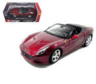 Ferrari California T Open Top Burgundy 1/24 Scale Diecast Car Model By Bburago 26011
