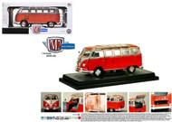 1960 Volkswagen Microbus Deluxe USA Model Red Rusted Version 1/24 Scale Diecast Model By M2 Machines 40300-45A