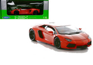 Lamborghini Aventador LP700-4 Orange 1/18 Scale Diecast Car Model By Welly 18041