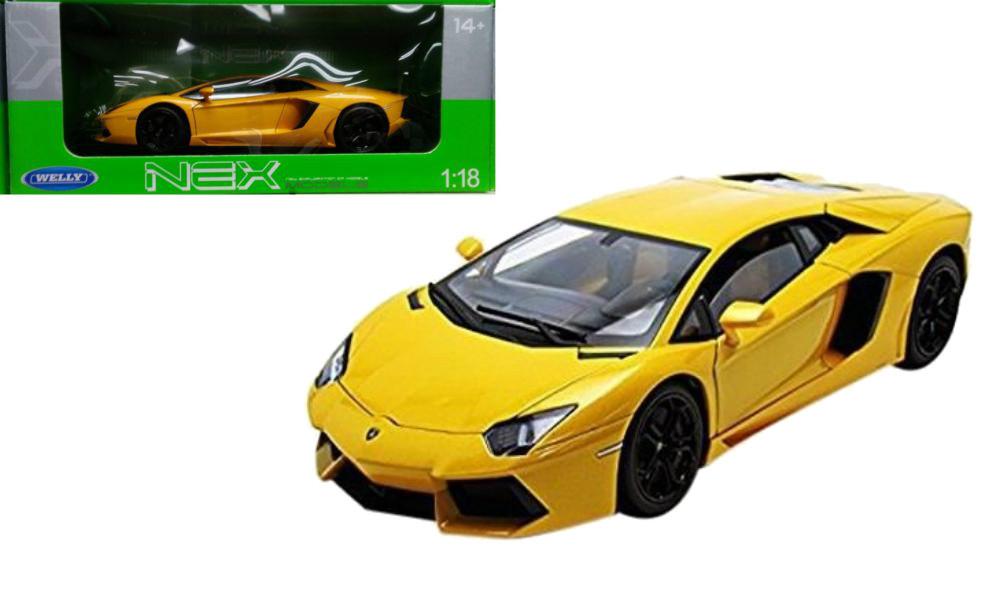 Lamborghini Aventador Lp700 4 Yellow 1 18 Scale Diecast Car