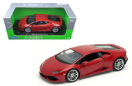 Lamborghini Huracan LP610-4 Red 1/18 Scale Diecast Car Model BY Welly 18049