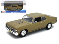 1970 Chevrolet Nova SS Coupe Gold 1/24 Scale Diecast Car Model By Maisto 31262