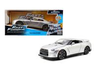 Nissan Skyline GT-R R35 Silver Fast & Furious 1/24 Scale Diecast Car Model By Jada 97212