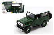 Toyota FJ40 FJ 40 Green Platinum 1/24 Scale Diecast Car Model By Motor Max 79323