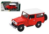 Toyota FJ40 FJ 40 Red Platinum 1/24 Scale Diecast Car Model By Motor Max 79323