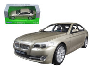 BMW 535i Gold 1/24 Scale Diecast Car Model By Welly 24026