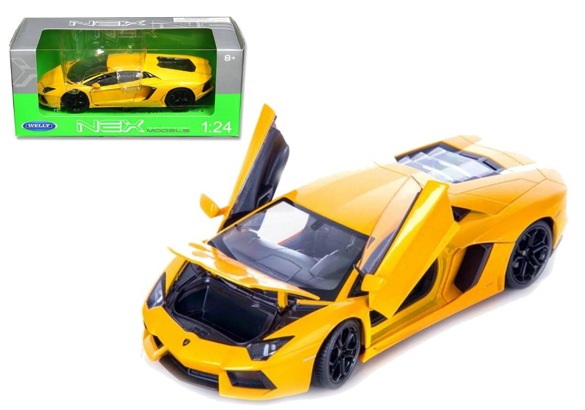 Lamborghini Aventador Lp700 4 Yellow 1 24 Scale Diecast Car