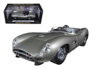 Aston Martin DBR1 Silver 1/18 Scale Diecast Car Model By Shelby Collectibles SC 107