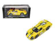 1967 Ford GT MK IV #2 Yellow LeMans 24 Hours Mark Donohue  B. Mclane 1/18 Scale Diecast Car Model By Shelby Collectibles SC 424