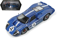 1967 Ford GT MK IV #4 Blue LeMans 24 Hour Winner L. Ruby D. Hulme 1/18 Scale Diecast Car Model By Shelby Collectibles 426