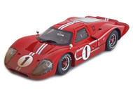 1967 Ford GT MK IV #1 Red DIRTY VERSION LeMans 24 Hour Winner 1/18 Scale Diecast Car Model By Shelby Collectibles SC 427