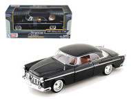 1955 Chrysler C300 Black 1/24 Scale Diecast Car Model By Motor Max 73302